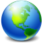 64x64px size png icon of Network Earth