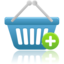 64x64px size png icon of shopping basket add