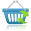 64x64px size png icon of shopping basket refresh