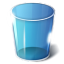 64x64px size png icon of trash empty
