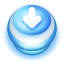 64x64px size png icon of Button Blue Arrow Down