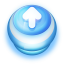 64x64px size png icon of Button Blue Arrow Up