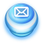 64x64px size png icon of Button Blue Mail