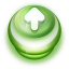 64x64px size png icon of Button Green Arrow Up