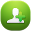 64x64px size png icon of add contact