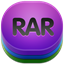 64x64px size png icon of rar 2