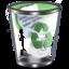 64x64px size png icon of Qx9 Vista Bin2 Full Green