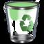 64x64px size png icon of Qx9 Vista Bin2 Green Empty