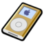 64x64px size png icon of iPod mini gold
