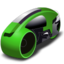 64x64px size png icon of lightcycle   green
