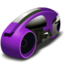 64x64px size png icon of lightcycle   purple