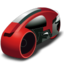 64x64px size png icon of lightcycle   red