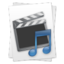 64x64px size png icon of Movie Music File