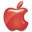 64x64px size png icon of Apple Logo Red