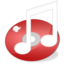 64x64px size png icon of iTunes Red