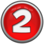 64x64px size png icon of Number 2
