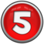 64x64px size png icon of Number 5