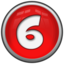 64x64px size png icon of Number 6