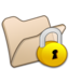 64x64px size png icon of Folder beige locked