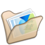 64x64px size png icon of Folder beige mypictures