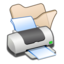 64x64px size png icon of Folder beige printer