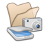 64x64px size png icon of Folder beige scanners cameras