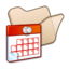 64x64px size png icon of Folder beige scheduled tasks