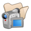 64x64px size png icon of Folder beige videos