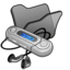 64x64px size png icon of Folder black mymusic