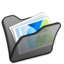 64x64px size png icon of Folder black mypictures