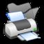 64x64px size png icon of Folder black printer
