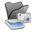 64x64px size png icon of Folder black scanners cameras