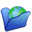64x64px size png icon of Folder blue internet