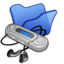 64x64px size png icon of Folder blue mymusic
