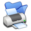 64x64px size png icon of Folder blue printer