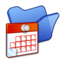 64x64px size png icon of Folder blue scheduled tasks