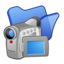 64x64px size png icon of Folder blue videos