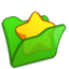 64x64px size png icon of Folder green favourite
