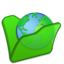 64x64px size png icon of Folder green internet