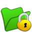 64x64px size png icon of Folder green locked