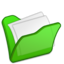 64x64px size png icon of Folder green mydocuments