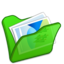 64x64px size png icon of Folder green mypictures