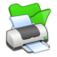 64x64px size png icon of Folder green printer