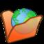64x64px size png icon of Folder orange internet