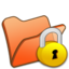 64x64px size png icon of Folder orange locked