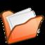 64x64px size png icon of Folder orange mydocuments