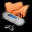 64x64px size png icon of Folder orange mymusic