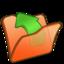 64x64px size png icon of Folder orange parent