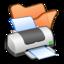 64x64px size png icon of Folder orange printer