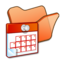 64x64px size png icon of Folder orange scheduled tasks